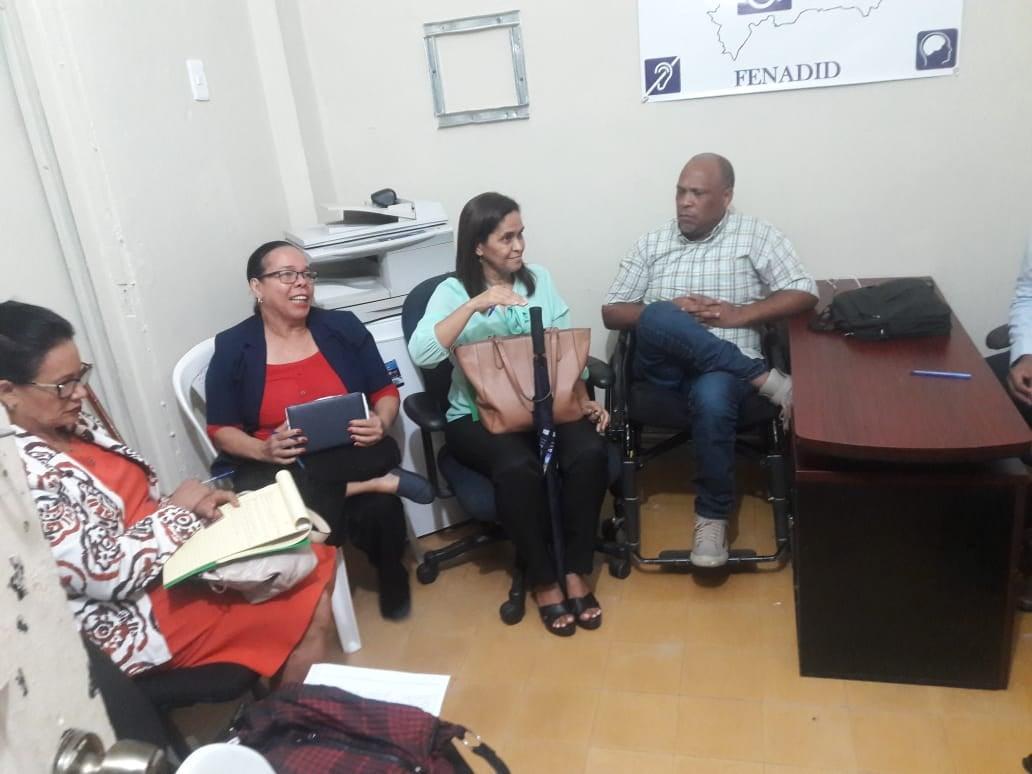 Reunión con Participación Ciudadana, FENADID, CIMUDIS y ADIDE